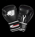 Boxing gloves - D-Logo Black - Leather για δίαιτες