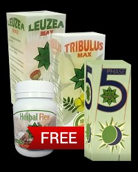 Leuzea MAX, Tribulus MAX, Herbal Flex + Phase 5 FREE от Cvetita Herbal