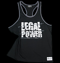 Sleeveless T-shirt Legal Power Black για δίαιτες