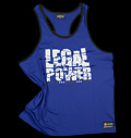 Sleeveless T-shirt Legal Power Blue για δίαιτες