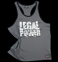 Sleeveless T-shirt Legal Power Grey για δίαιτες