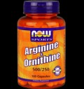 L-Arginine 500 mg with L-Ornithine HCL 250 mg για δίαιτες