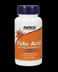 Folic Acid 800 mcg от NOW Foods