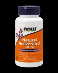 Natural Resveratrol Complex 50 mg от NOW Foods
