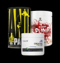 Universal Animal PAK / Swedish Supplements Bloody Pump / OstroVit Creatine Matrix για δίαιτες