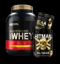 Optimum Nutrition 100% Whey Gold Standard / Swedish Supplements HITMAN / Kevin Levrone SS BCAA Defender για δίαιτες